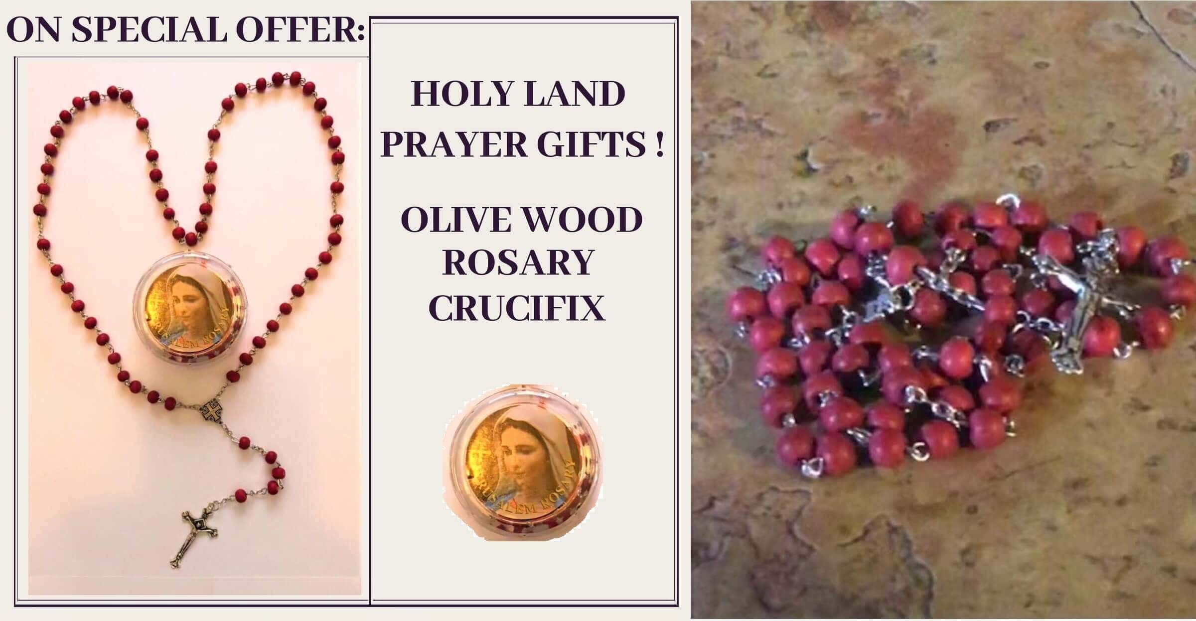 holy land gift - pray the rosary